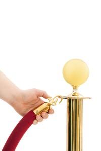 V.i.p Only!!! Hand Opening Red Velvet Rope